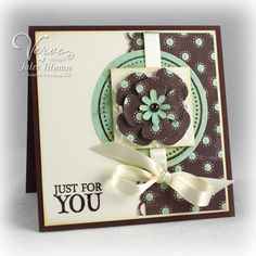 Love this handmade card! These colors are just fabulous together!