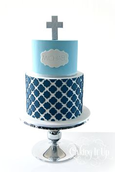 Christening/communion cake for boys