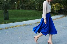 DIY MIDI CIRCLE SKIRT from cotton and curls