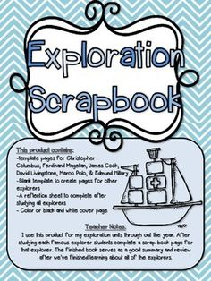 exploration scrapbook create pageto createdavid livingstonejames cookjames