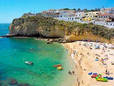 #Beach Praia do Carvoeiro, Algarve, Portugal | via http://blog.turismodoalgarve.pt