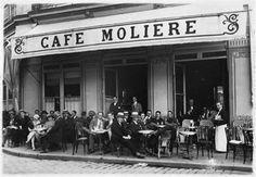 Café Moliere / place Graslin / Nantes Italian Bar, French Cafe, Vintage Cafe, Belle Villa, Blue Bottle, France, Paris Travel, Study Abroad, Store Design
