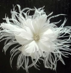 Check out this item in my Etsy shop https://www.etsy.com/listing/521357239/bridal-fascinator-white-feathered