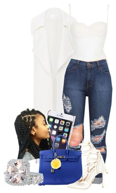 5-7-16 by janay1206 on Polyvore featuring polyvore, fashion, style, Cushnie Et Ochs, La Perla, River Island, Hermès, Ted Baker, Fendi and clothing