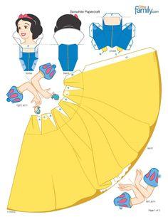 Princesas Disney 3 D Moldes Paper Craft 3d Paper Crafts, Paper Toys, Diy Paper, Disney Paper Dolls, Snow White Birthday, Paper Dolls Printable, Disney Princess Party, Disney Crafts, Disney Diy