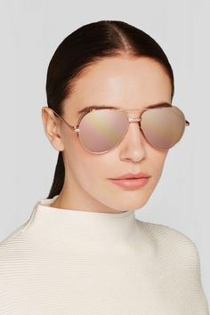cc0c423b77f Pinned from rewardStyle Rose Gold Mirrored Sunglasses
