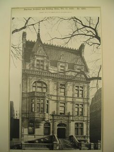 House of Louis Stern on 993 Fifth Ave, New York, NY, 1900, Schickel & Ditmars
