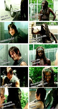 michonne and daryl... Still better love story that Twilight