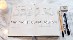 My Minimalist Bullet Journal Set Up - YouTube