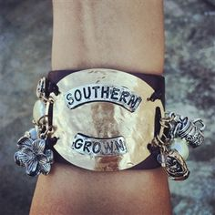 Southern Grown leather cuff bracelet
