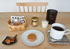 A cup of coffee with confectionary from Coffee Kajita, a small family-owned cafe in Nagoya. Nagoya, Dog Bowls, Tea Time, Coffee Cups, Japan, Mugs, Tableware, Life, Food