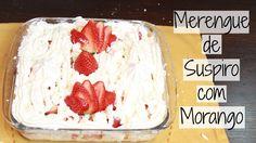 Merengue de Suspiro com Morango - Brincando de Ana Maria. Receita merengue. Merengue fácil