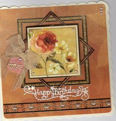 Hunkydory card using radiant roses kit and tattered lace birthday greeting