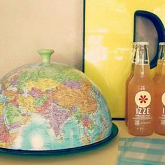Repurposed Globe Cloche - Dukes and Duchesses Globe Crafts, Map Crafts, Globe Art, Map Globe, Globe Decor, Recycled Art, Repurposed, Craft Projects, Projects To Try