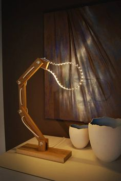 We love this creative LED lighting idea! Perfect accessory for desks and living rooms for your home! #LED #LEDlight #LEDlamp www.ledluxor.com