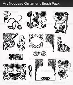art nouveau leaf - Google Search