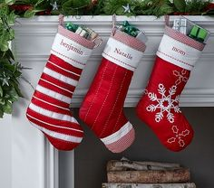 personalized christmas stockings red white christmas decoration ideas