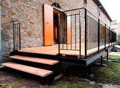 Terraces made of metal (steel) and wood, sturdy, functional and elegant - staircase