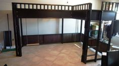 Cool bunk beds with two swings under it. Not sure how they would really swing but cool idea