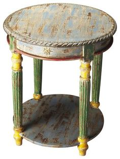 Butler Nehru Hand Painted Accent Table