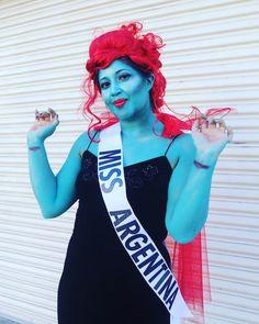 DIY Beetlejuice Miss Argentina Halloween Costume Idea 3