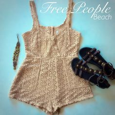 Free People Beach Romper - SM This piece is a definite must-have for your winter cruise get away!  Super sexy!!  Preloved in gooood condition!! *See-through*. The perfect swim cover! Free People Swim Coverups