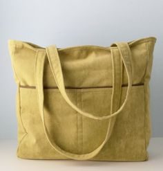 Extra-Large Fabric Tote Bag Carryall with Recessed Brass Zipper by ...