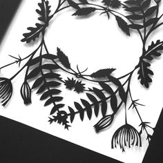Image of Botanical Paper Cut Lace - Hedgerow Ferns