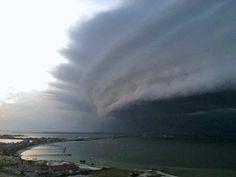 Hurricane Irene approaching New Jersey. Very cool shot....
