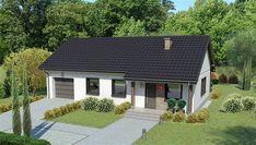 Projekt domu parterowego Dom przy Bukowej 19 o pow. 82,25 m2 z garażem 1-st., z dachem dwuspadowym, sprawdź! Gazebo, House Plans, Shed, Home And Garden, Outdoor Structures, House Design, House Styles, Outdoor Decor, Modern