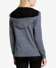 Calvin Klein Performance Logo Zip Hoodie, a Macy's Exclusive Style - White XXL