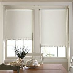 Roller Shades With A Scalloped Bottom Types Of Window