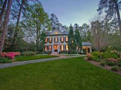 Atlanta Homes (emily giffin's old in Buckhead).  Attached porte cochere (sp?) in lieu of garage.