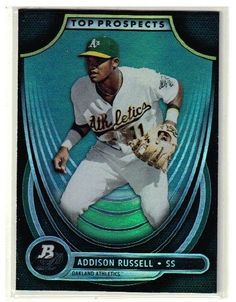 2013 Bowman Platinum Baseball Addison Russell Top Prospect Rookie Card - Cubs #ChicagoCubs