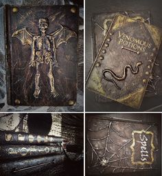 Altered Halloween Books Tutorial, new and improved!