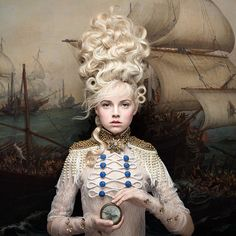 """Australian photographer Alexia Sinclair's stunning new series """"Echoes of Rococo"""" is currently on view at James Freeman Gallery in London until 29 July. Do check it out if you are in town! Mode Rococo, Rococo Style, Portrait Photography, Fashion Photography, Photography Magazine, Editorial Photography, Rococo Fashion, Foto Art, Jolie Photo"""