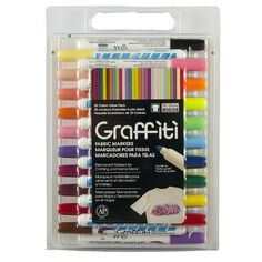 Easy and fun, these fabric markers are great for drawing on light colored fabrics. Easily c...