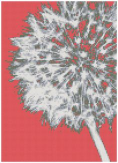 Dandelion on Melon a Counted Cross Stitch by WooHooCrossStitch on etsy