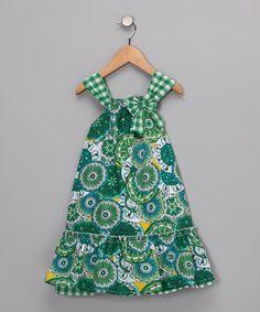 Green Motif Swing Dress - Infant, Toddler & Girls