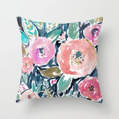 Buy Gardens of Capitola Watercolor Floral Throw Pillow by Barbarian / Barbra Ignatiev. Worldwide shipping available at Society6.com. Just one of millions of high quality products available.
