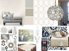 LCDF {la conception des femmes}: Style that item: Kerry's dining room-Benjamin Moore color 1 Ballet White, color 2 Pashmina, color 3 Stonington Gray  We are painting our living room/dining room Pashmina and our kitchen Ballet White.  Cool to find these colors together on a mood board.