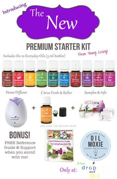 Introducing the new Premium Starter Kit from Young Living. Now including, Stress Away, Melaleuca Alterniforia, and Citrus Fresh in addition to the other amazing oils. 11 in all!! To learn more or get your own kit, visit: www.StopDropAndOil.com/order-oils