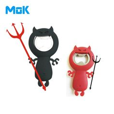 #Wine #Gift        Name: Creative MonsterShaped Bottle Opener Material:Stainless Steel  Silicone Size: about 8.54.5 cm Net #Food #Party