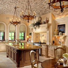 luxury kitchen designs tile inspiration for backsplashes and ceilings kitchen islands today - Tuscan Style Kitchen