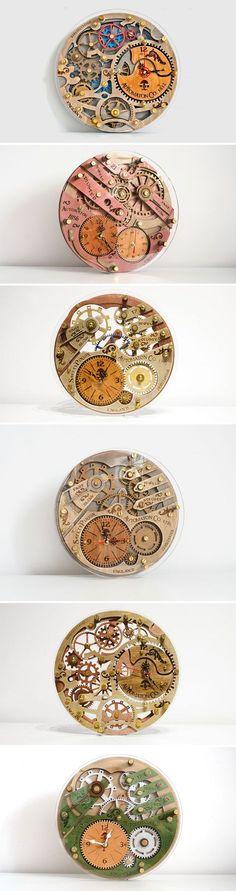 Wooden Steampunk Clock | Настенные часы https://www.livemaster.ru/wood-and-root