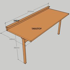HOME DZINE Home DIY | Turn a bought door into a fold-down worktable