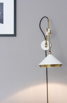 The versatile Shear wall light is perfect for bedsides, kitchens or anywhere a wall mounted task light is required.