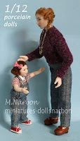Custom porcelain dolls, scale 1/12, by M. Narbon https://www.etsy.com/shop/marianarbon