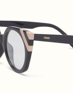 1080e9f6ea FENDI WAVES - Sunglasses with transparent lenses - view 3 detail Lenses