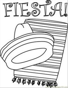 Enjoy these printable Fiesta Coloring Pages, including Mexican culture coloring sheets, Cinco de Mayo pictures to color, Day of the Dead coloring. Free Printable Coloring Pages, Coloring Pages For Kids, Coloring Books, Coloring Sheets, Free Coloring, Mexico Crafts, Hispanic Art, Fiesta Colors, Fiesta Decorations